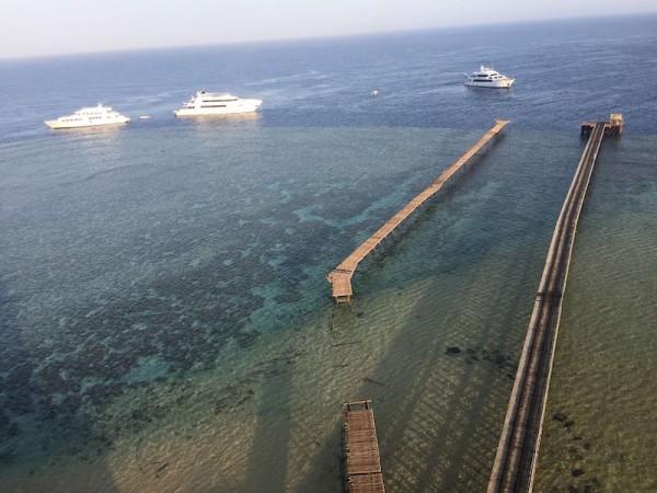 Pohled z majáku Daedalus reef